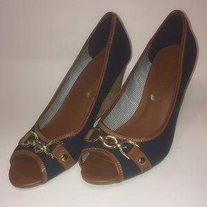 Tommy Hilfiger Blue Wedge Shoes